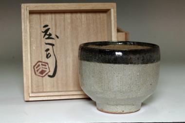 sale: Hamada Shoji Mongama Vintage mashiko pottery tea bowl