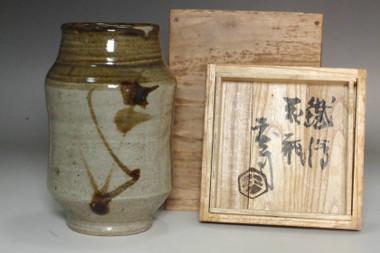 sale: Hamada Shoji (1894-1978) Vintage pottery vase in mashiko ware