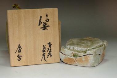 sale: Sugimoto Sadamitsu (1935- ) Incense container in Shigaraki ware