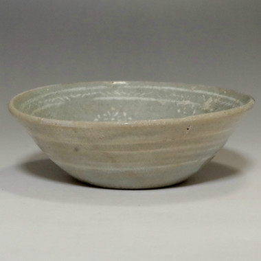 Small Antique Korean Inlaid Celadon Pottery Deep Plate #2083