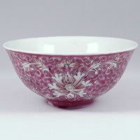 Antique Chinese Famille Rose Porcelain Bowl - QIANLONG Emperor Mark #2265