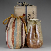 sale: IGA CHAIRE - Japanese pottery tea caddy w tomobako