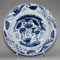 sale: Antique Chinese blue and white porcelain plate #2324