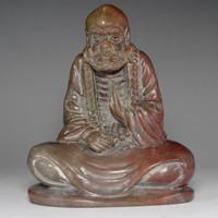 sale: Fine Shoushan stone Bodhidharma carving Statue #2360