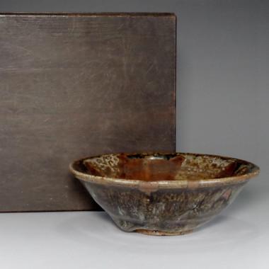 sale: HIRA CHAWAN Nice glazed Vintage Japanese Pottery Tea Bowl w Box