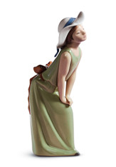 LLADRO CURIOUS GIRL WITH STRAW HAT (01005009 / 5009)