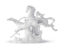 LLADRO HORSES GALLOPING (WHITE) (01008682 / 8682)
