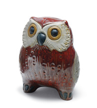 LLADRO SMALL OWL (RED) (01012535 / 12535)