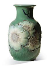 LLADRO POPPY FLOWERS TALL VASE (GREEN) (01008648 / 8648)