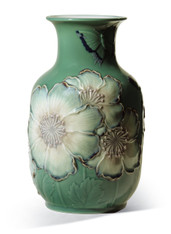LLADRO POPPY FLOWERS TALL VASE (GREEN) (01008648 / 8648)