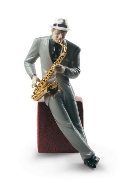 Lladro Jazz saxophonist 01009330
