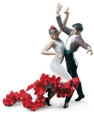 Lladro Flamenco dancers Couple Figurine 01009333
