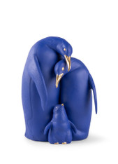 Penguin family Sculpture. Limited Edition. Blue and Gold  01009539 / 9539