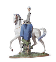LLADRO WOMAN ON HORSE