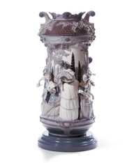 LLADRO LADIES IN THE GARDEN VASE-GREY (RE-DECO) (01007033 /7033)