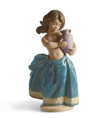 LLADRO LITTLE PEASANT GIRL (BLUE) (01012331 / 12331)