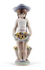LLADRO SKIRT FULL OF FLOWERS (60TH ANNIVERSARY) (01008674 / 8674)