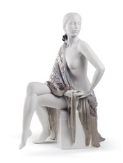 LLADRO NUDE WITH SHAWL (RE-DECO) (01008673 / 8673)