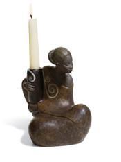 LLADRO WOMAN W.JAR CANDLEHOLDER PULSE OF AFRICA (01012500 / 12500)