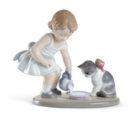 LLADRO KITTYS BREAKFAST TIME (01008498 / 8498)