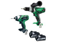 HiKoki KC18DKL 2 Piece 18V Cordless Kit (2 x 5.0Ah) (KC18DKL)
