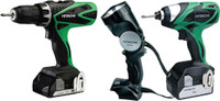 Hitachi KTL318WH/JF 18 Volt Combi Drill / Impact Driver Kit With 2 x 2.5Ah Li-Ion Batteries  & Torch