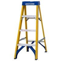 Werner 71604 Stepladder Fibreglass 4 Tread Trade