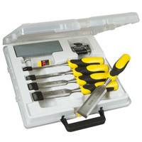 Stanley Dynagrip 5 Piece Strike Cap Chisel Set With Oilstone