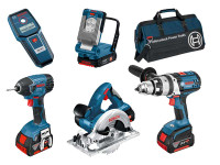 Bosch BAG+5RS 18v 5 piece Cordless Tool kit with 3 x 4.0Ah in Bag