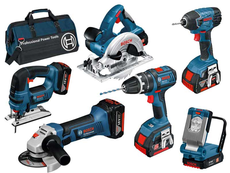 Bosch BAG+6DS 18v 6 Piece Cordless Tool Kit with 3 x 4.0Ah in Bag ... ee53a3cde4a18