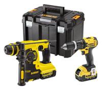 Dewalt DCK206M2T Combi Drill and Hammer Drill Cordless Kit (2 x 4.0Ah)