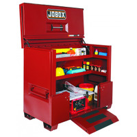 """Jobox 60"""" Piano Box With Front Drop Tool Chest"""