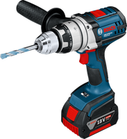 Bosch GSB 18 VE-2-LI 18V Li-Ion Robust Series Combi Drill 2 x 4.0Ah