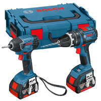Bosch GSB 18 V-LI + GDR 18 V-LI With 2 x 4.0Ah And Charger in L-BOXX