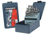 Diager 747D 25 Piece HSS Drill Bit Set