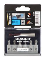 Diager U641D 7 Piece Torsion Screwdriver Bit Set