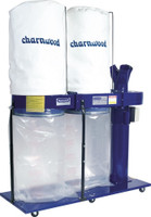 Charnwood W792 Professional 3HP Double Bag Dust Extractor (Single Phase) (W792)
