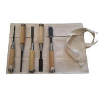5 Piece Japanese SK-5 Chisel Set In Roll