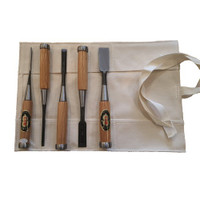 5 Piece Japanese Shirogami Chisel Set In Roll