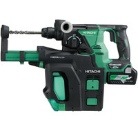 HiKoki DH36DPB Multi Volt (36V) Cordless Rotary Hammer with Dust Extractor System 2 x 2.5Ah