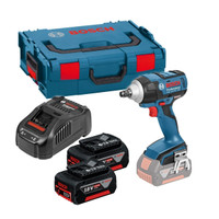 Bosch GDS 18 V-EC 250 Brushless 18V Impact Wrench 2 x 5Ah Batteries