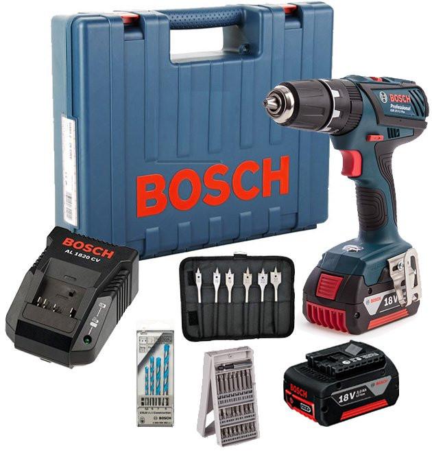 Bosch Gsb 18 2 Li Plus Cordless Combi Drill With L Boxx 2x3ah