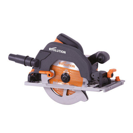 Evolution 185mm TCT Plunge Saw (2x Rails) (R185CCSX+)