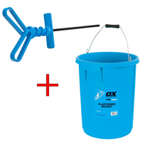 Ox Pro 25L Bucket and 10mm Hex Paddle Deal