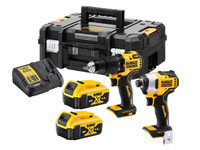 Dewalt DCK2062M2T 18V XR Brushless Twin Pack Combi Drill And Impact Driver, 2 x 4.0Ah Batteries