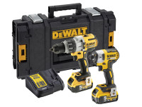 Dewalt DCK276P2 18V XR Brushless Twin Pack Combi Drill And Impact Driver, 2 x 5.0Ah Batteries