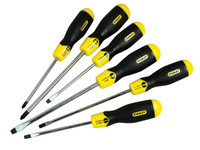 Stanley Cushion Grip Screwdriver Set, 6 Piece SL/PH