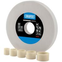 Draper 150 x 20mm White Aluminium Oxide Grinding Wheel (80 Grit) (99569)