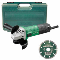 Hikoki 115m Angle Grinder with Diamond Disc in Case