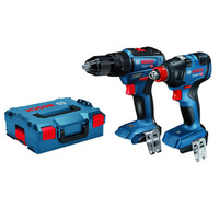 Bosch Brushless Twin Pack - GSB 18V-55 Combi Drill & GDX 18V-200 Impact Wrench - Body Only